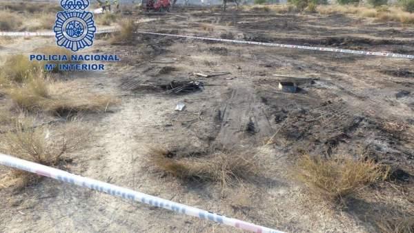 Incendio en las inmediaciones de Fontcalent