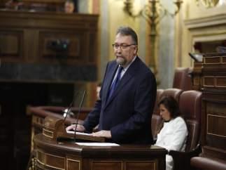 Isidro Martínez Oblanca, de Foro Asturias, durante el debate de la moción