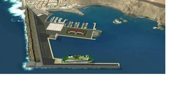 Obra de ampliación del Puerto de Agaete (Gran Canaria)