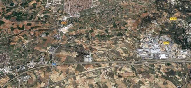 Localización de la A-3 a la altura de Cheste.
