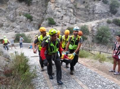 Desbordamiento de un río en Italia