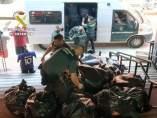 Ropa incautada por la Guardia Civil en La Jonquera