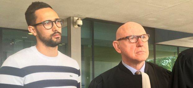 Valtònyc, a su llegada al tribunal belga