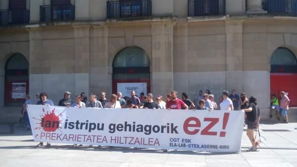 Concentración en Pamplona contra la siniestralidad laboral