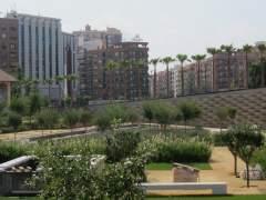 Parte del Parque Central entre Malilla y Russafa