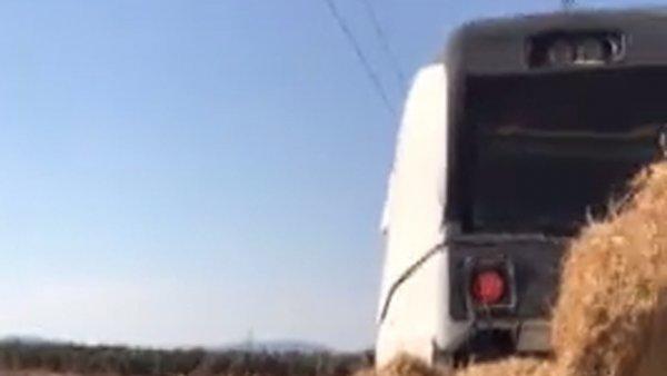 Un tren arrolla a un camión en Málaga