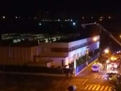 Incendio en empresa Toybe en Logroño