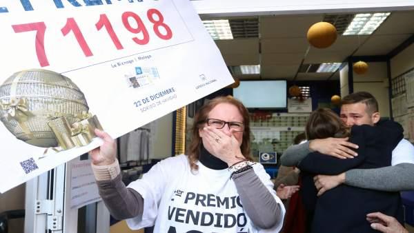 Premio el Gordo 71198 lotería Navidad