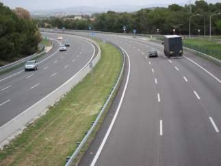 Carretera, autopista, tráfico, operación salida, retorno