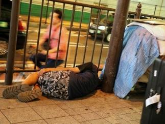 Sin techo en las calles de Japón