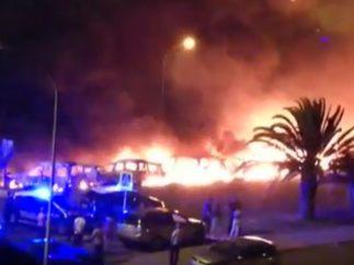 Coches incendiados en Gran Canaria