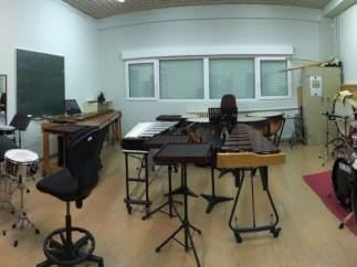 Aula de música, imagen de archivo