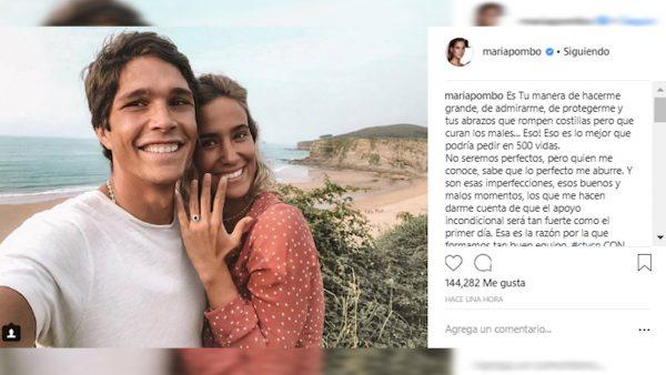 La 'influencer' María Pombo y su novio