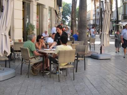 Terraza, bar, centro, camarero, establecimientos, hostelería, turismo