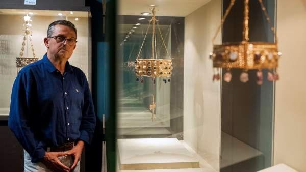 El responsable del centro de interpretación del tesoro de Guarrazar, Pedro Antonio Alonso