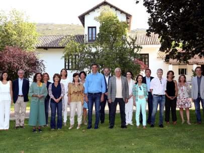 Sánchez y su Gobierno en Quintos de Mora (Toledo)