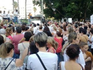 Concentración Kellys en Plaza España