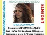 Menor desaparecida en Carabanchel