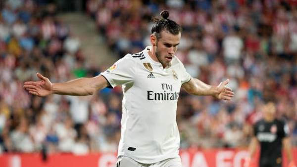 Gareth Bale celebra un gol frente al Girona.