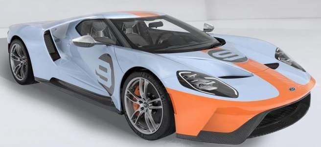 Ford lanza una edición limitada del GT con los colores azul y naranja Heritage.