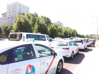 Huelga de taxistas en Madrid.