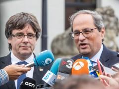"""Puigdemont dice que algunos partidos están """"flirteando"""" con la violencia"""