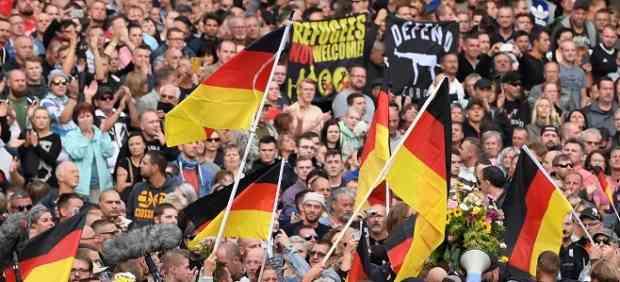 La 'caza neonazi al extranjero' que se ha dado en Chemnitz (Alemania).