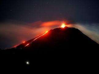Luz de una erupción