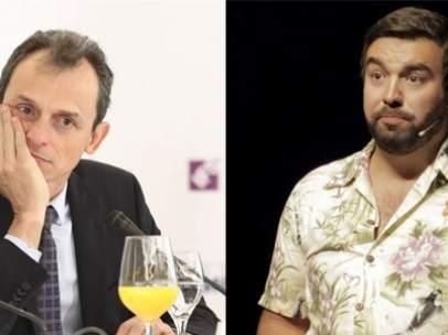 Pedro Duque y el humorista Rober Bodegas