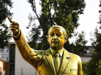 Estatua de Erdogan.