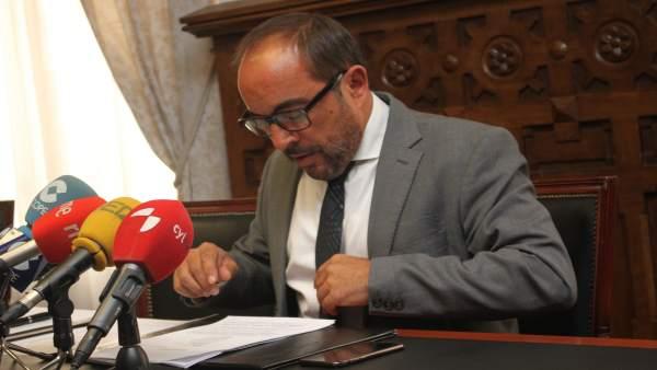 El presidente de la Diputación de Soria, Luis Rey.