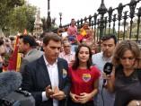 El presidente de Cs, Albert Rivera, y la líder en Catalunya, Inés Arrimadas
