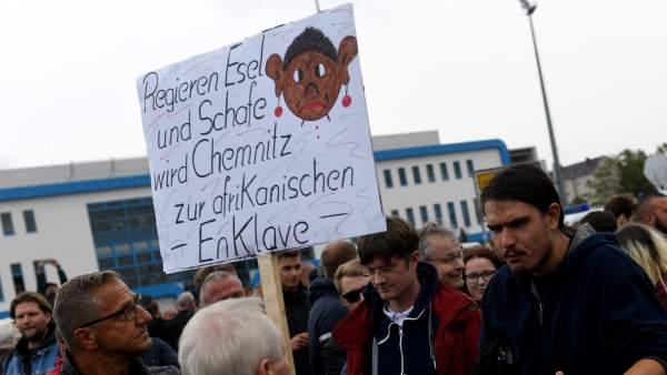 Manifestación de la ultradereche neonazi alemana en Chemnitz