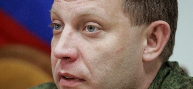El líder de los rebeldes prorrusos, Alexandar Zajárchenko