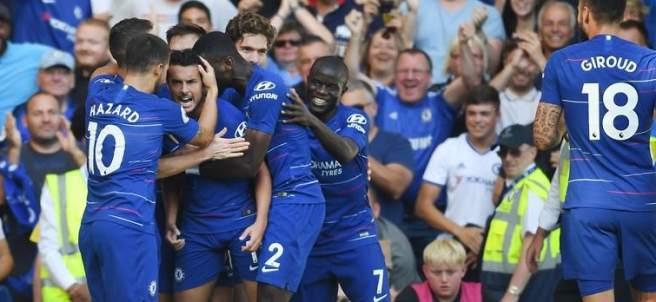 Pedro celebra su gol ante el Bournemouth.