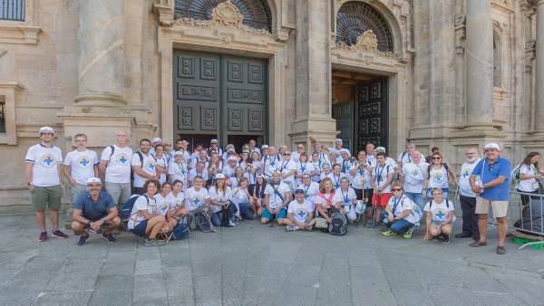 Llegada de los Alfas en Camino a Santiago tras siete días de peregrinación.