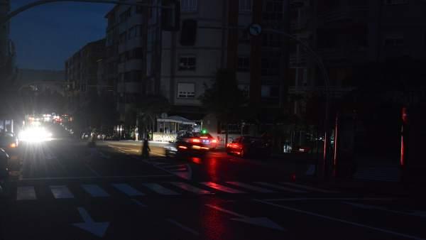 Ourense vive un apagón durante casi dos horas por fallo en línea de distribución