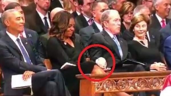 Bush y Michelle