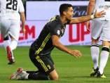 Cristiano Ronaldo, en un partido de la Serie A con la camiseta de la Juventus.