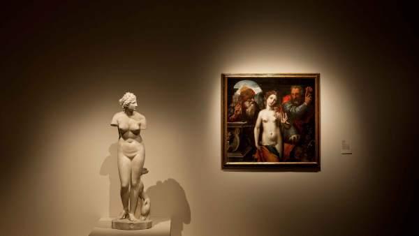 Dos de la obras de la exposición 'La invención del cuerpo'