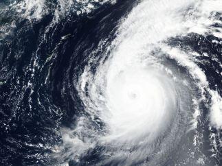 El tifón Jebi, desde el espacio