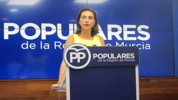 La portavoz del Partido Popular de la Región de Murcia, Nuria Fuente