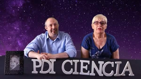 Castillo y Bermúdez, 'youtubers' y miembros del equipo de 'PDI Ciencia'