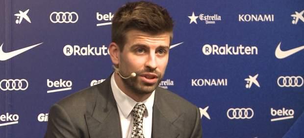 Piqué mete las cámaras en el vestuario del Barça