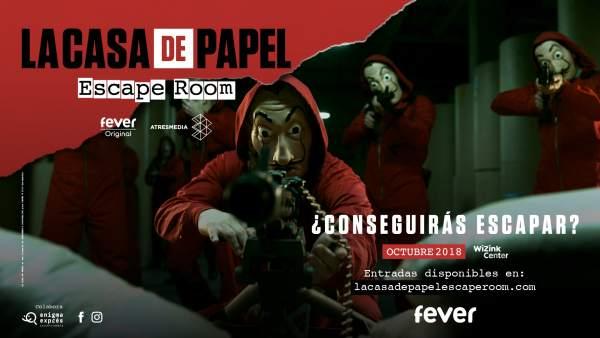 'Escape room' basado en la serie 'La casa de papel'.