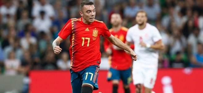 Iago Aspas, con la camiseta de la Selección española.