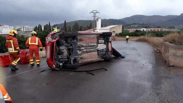 Accidente en Benifairo de les Valls
