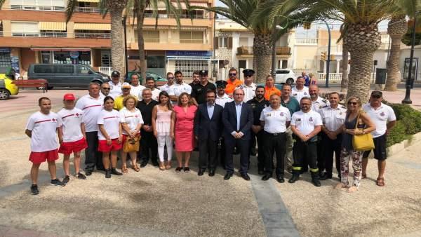 Pedro Rivera y la alcaldesa de San Pedro con efectivos en balance del Plan COPLA
