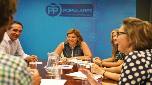 Isabel Bonig durante el Consejo de Dirección del PPCV