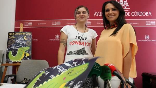 González (dcha.) y Chacón en la presentación de la Velá